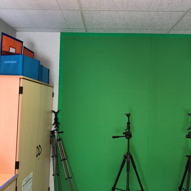 Our green screen acts as a vital tool for our STEAM-based projects.